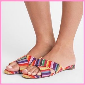 "J. CREW   ""Cora"" Multi-Stripe Criss-Cross Sandals"